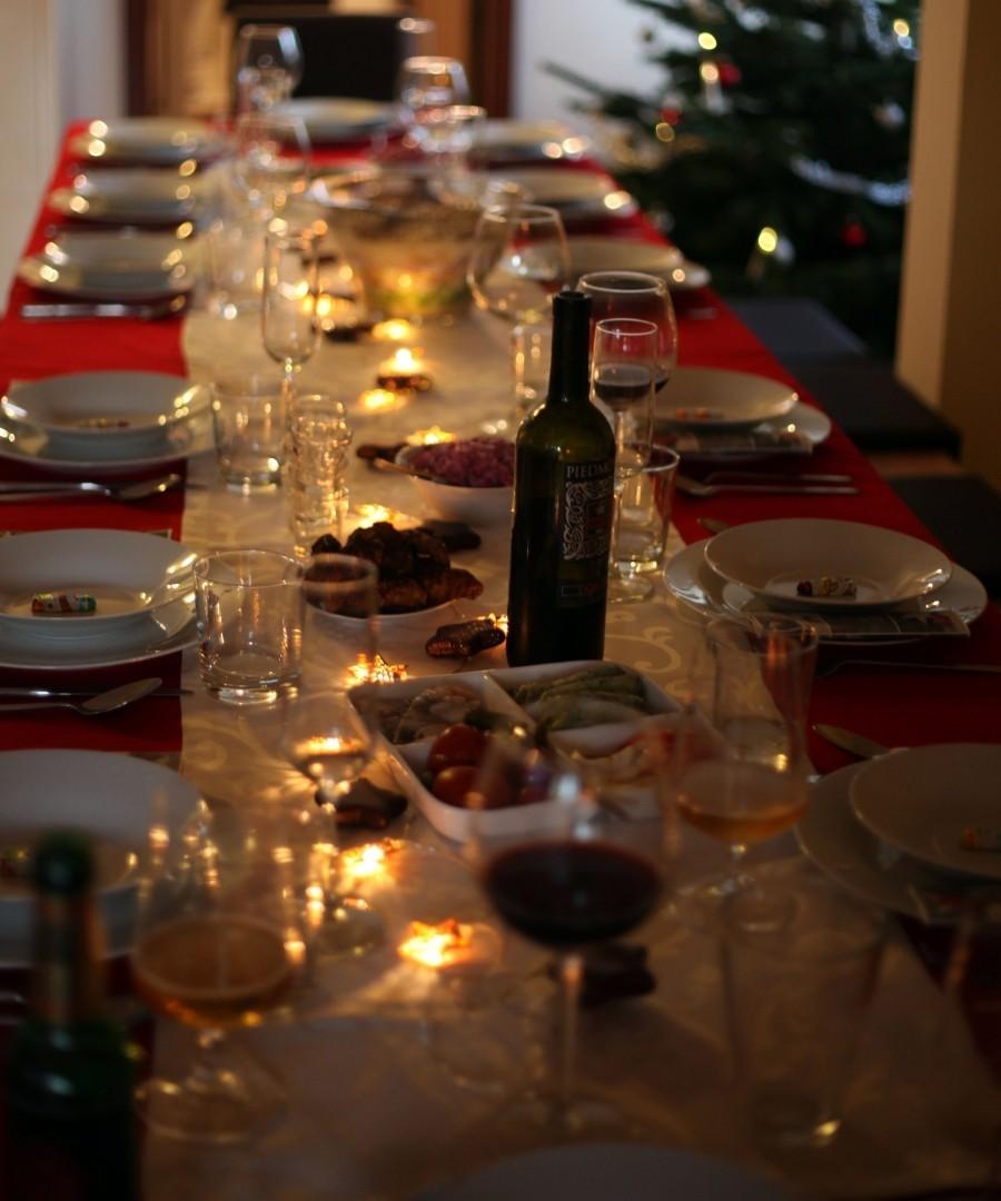 Weihnachten Gedeckter Tisch Shabby Fille