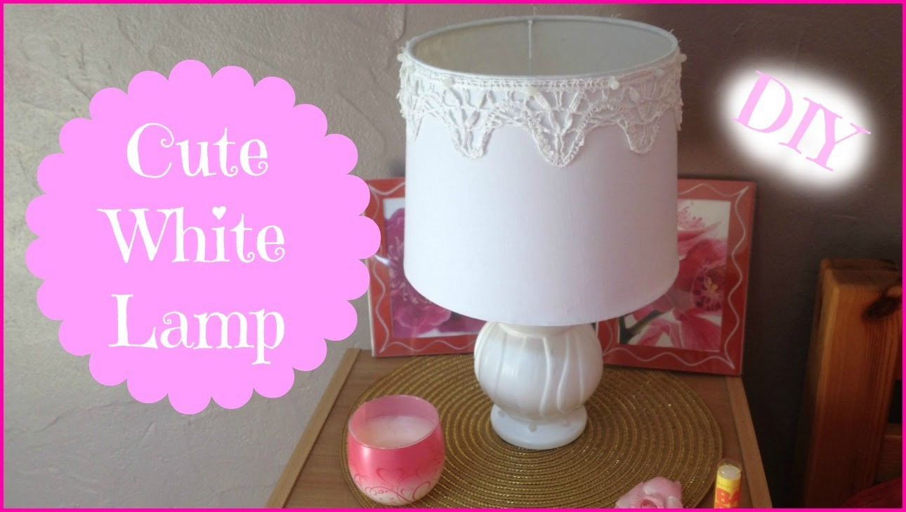 Lampe Diy Cute White Lamp Diy Diy Lampe De Chevet