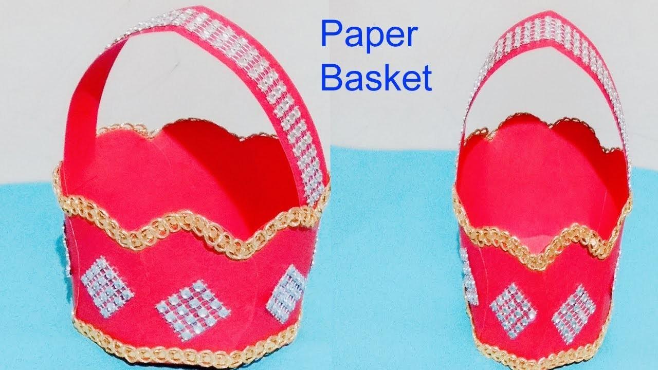 How To How To Make Paper Basketpaper Basket Makingdiy