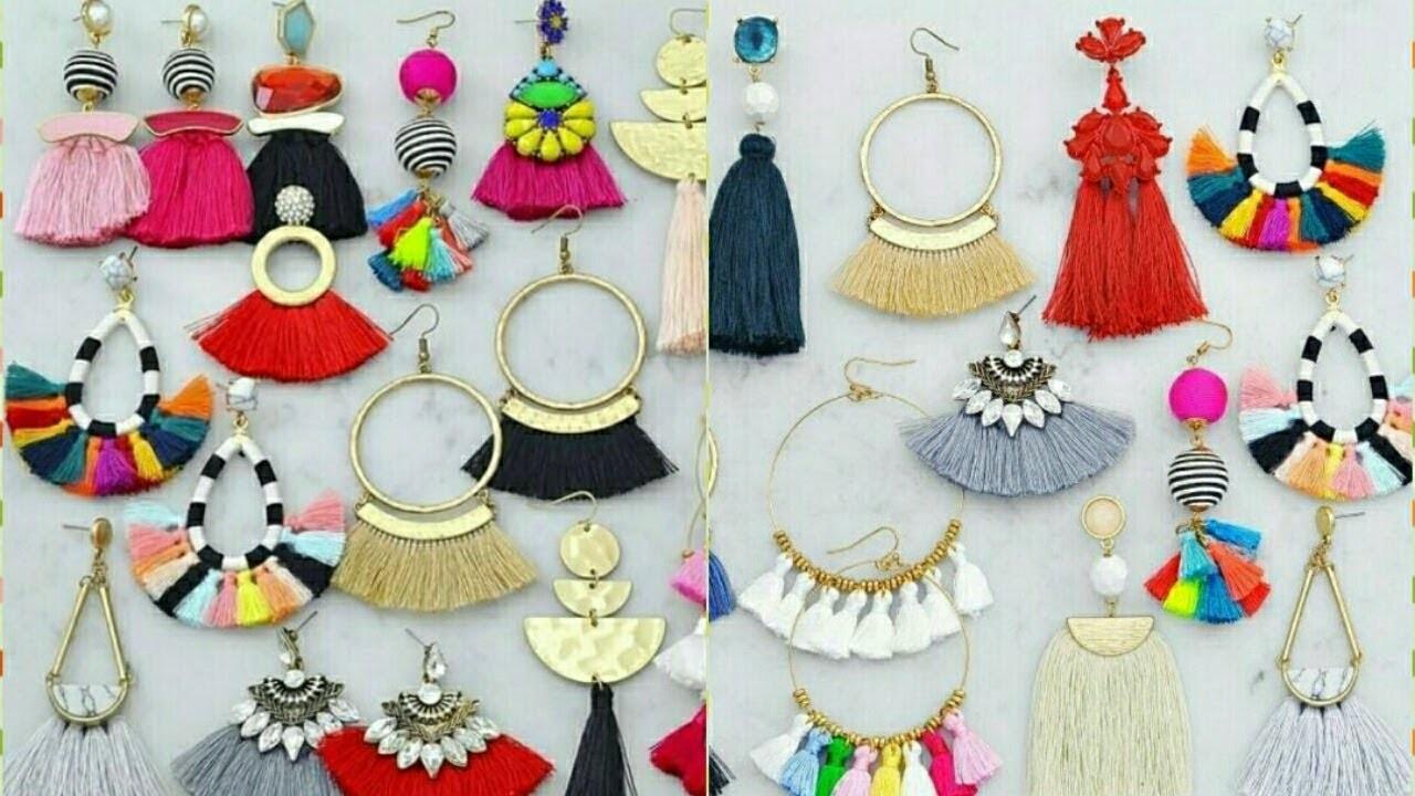 Party Wear Tassel Earrings Collections Diy Silk Thread