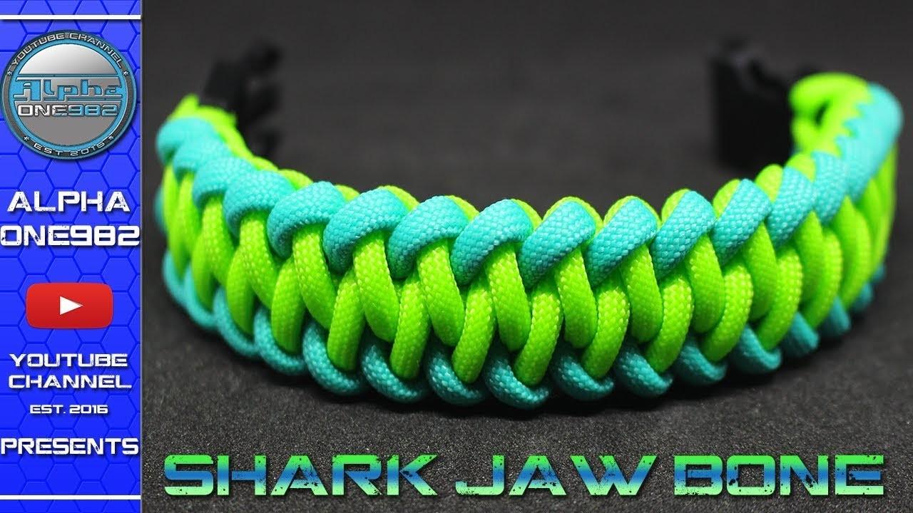 How To Make A Paracord Bracelet Modified Shark Jaw Bone