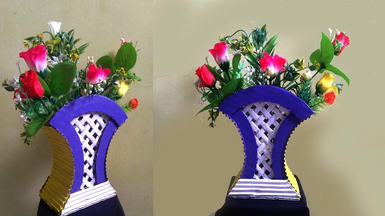 amazing how to make newspaper flower vase diy using cardboard . & news paper flower vase - Suzen.rabionetassociats.com