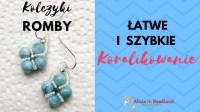 DIY beaded earrings tutorial - Jak zrobi kolczyki z ...