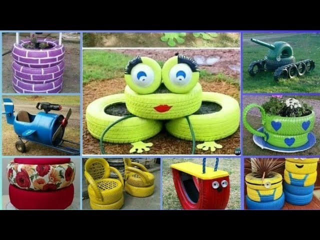 Recycle Waste Car Tyre Diy Tyre Decoration