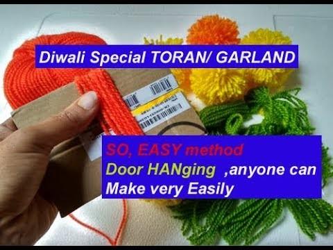 Super Easy Diwali Special Woolen Toran Door Hanging