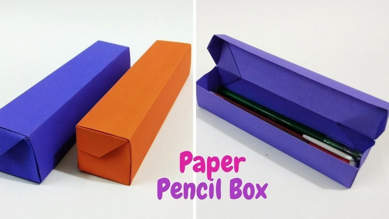 How To Make Origami Paper Pencil Box