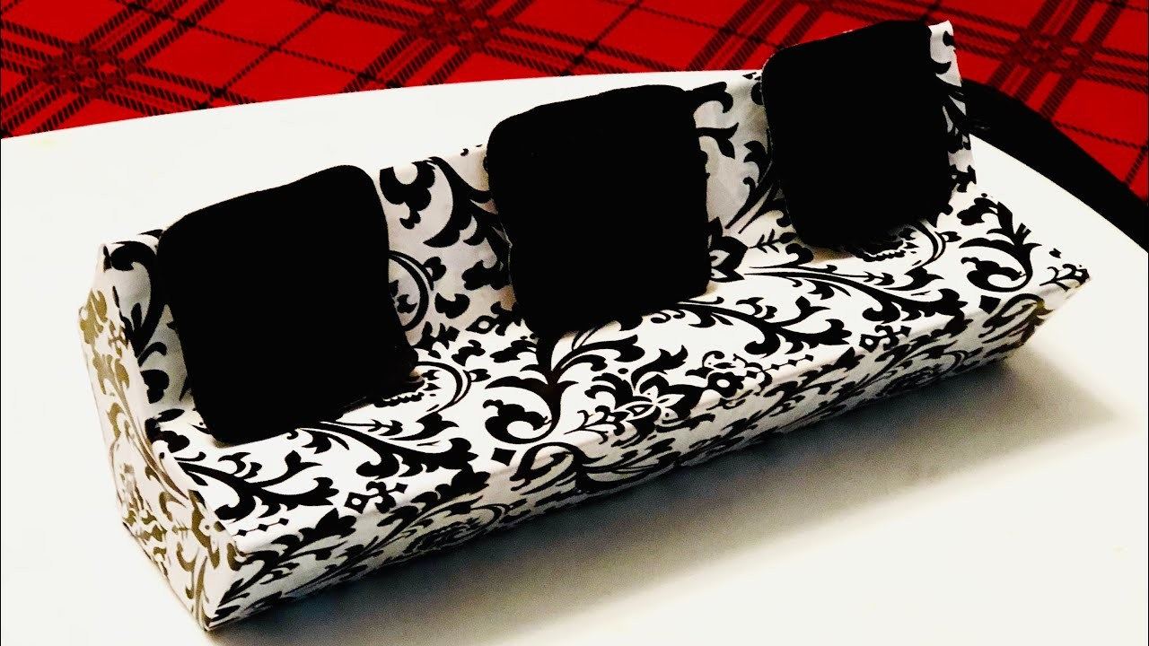Diy Dollhouse Sofa Using Waste Material Dollhouse Couch