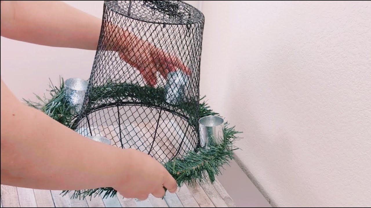 Diy Holiday Wreath Hanging Lantern Rustic Chandelier