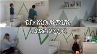 DIY MOUNTAIN WALL DECOR. MURAL, TODDLER ROOM