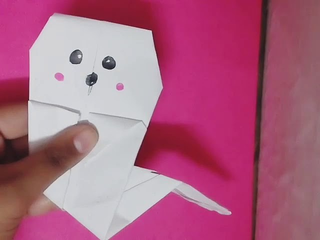 Origami Ghost Diy Easy Halloween Crafts
