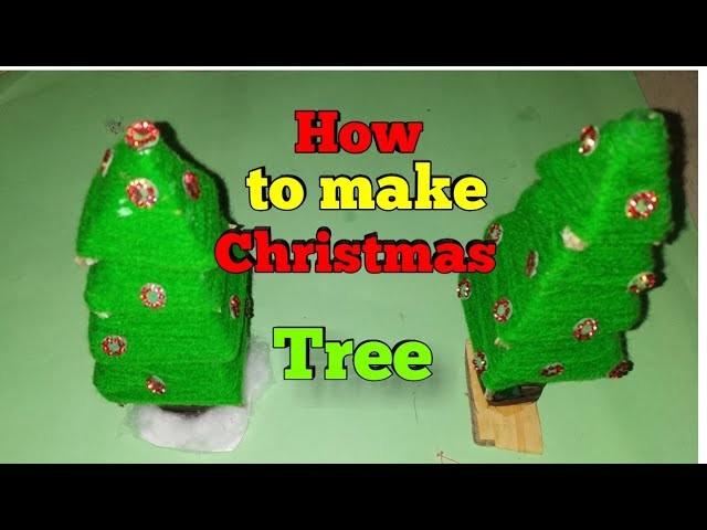 How To Make A Christmas Tree Homemade Idea New Diy