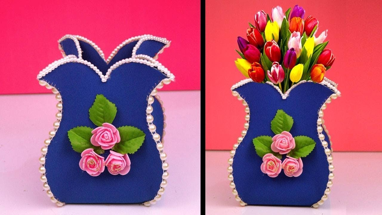 Diy How To Make A Handmade Flower Vase Simple Craft