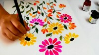Colorful Floral Painting for Wall Decor, Canvas Art ...