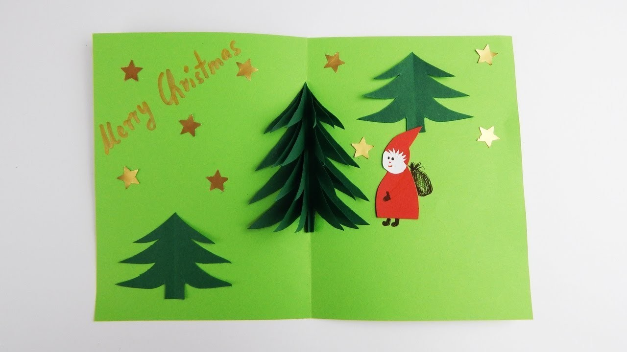 3d Weihnachtskarte Pop Up Card Christmas Card Diy Xmas Pop Up Karte Weihnachtskarte