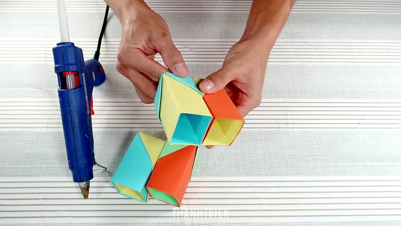 Amazing Paper Craft Easy Diy Pen Holder Paper Crafts Ideas