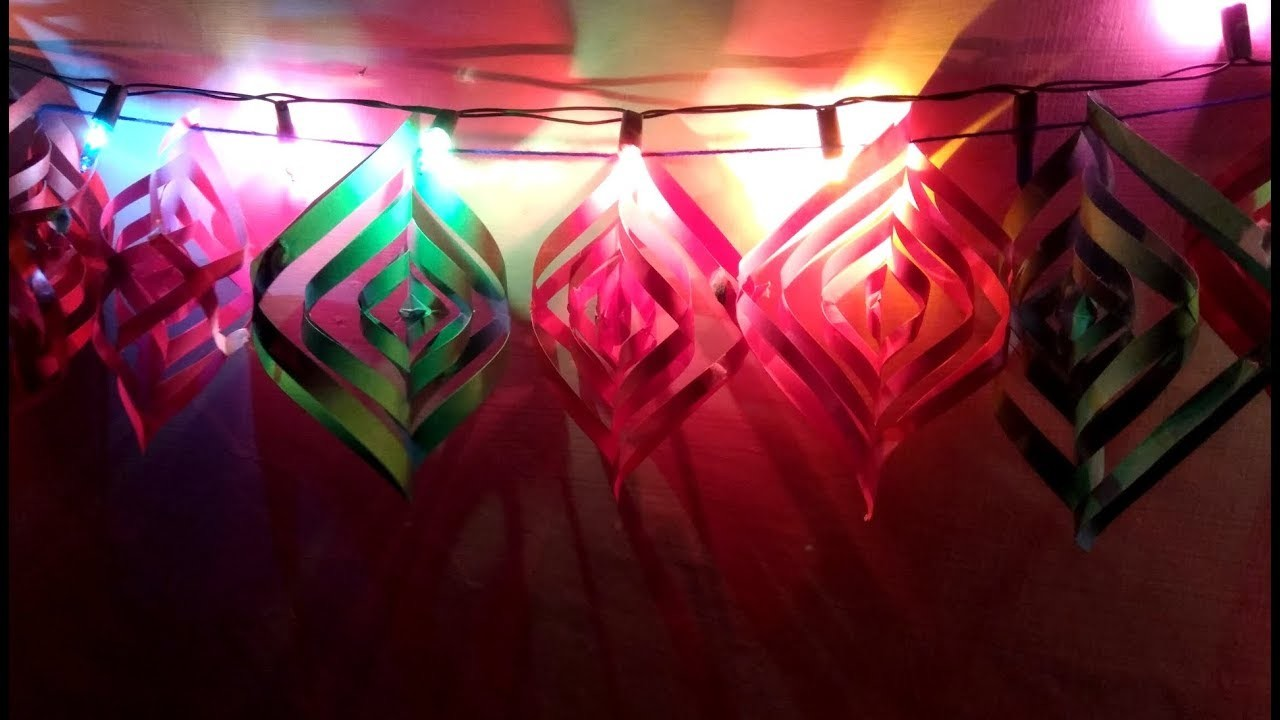 Light Decoration Diwali Coloured Paper Light Decoration For Diwali How To Make