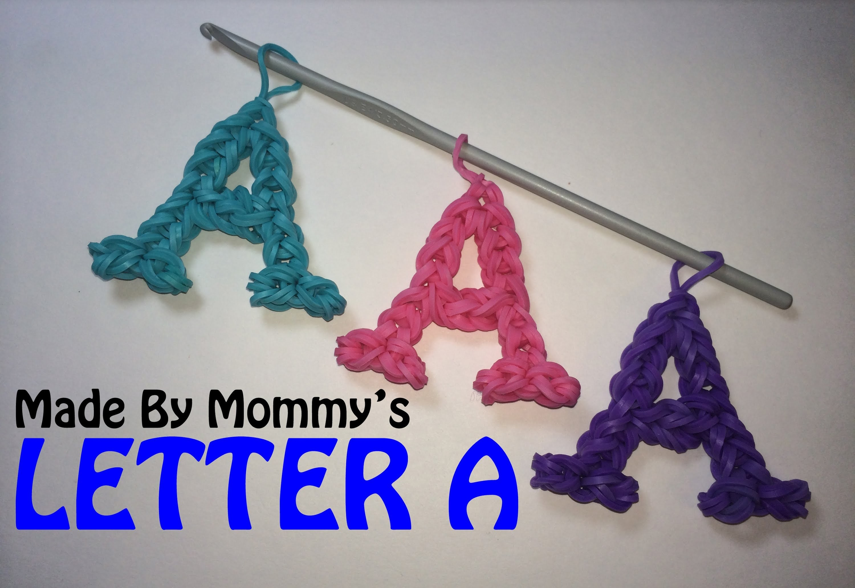 Baby Booties Using Flower Loom Crochet Letter A Charm Without The Rainbow Loom Easy