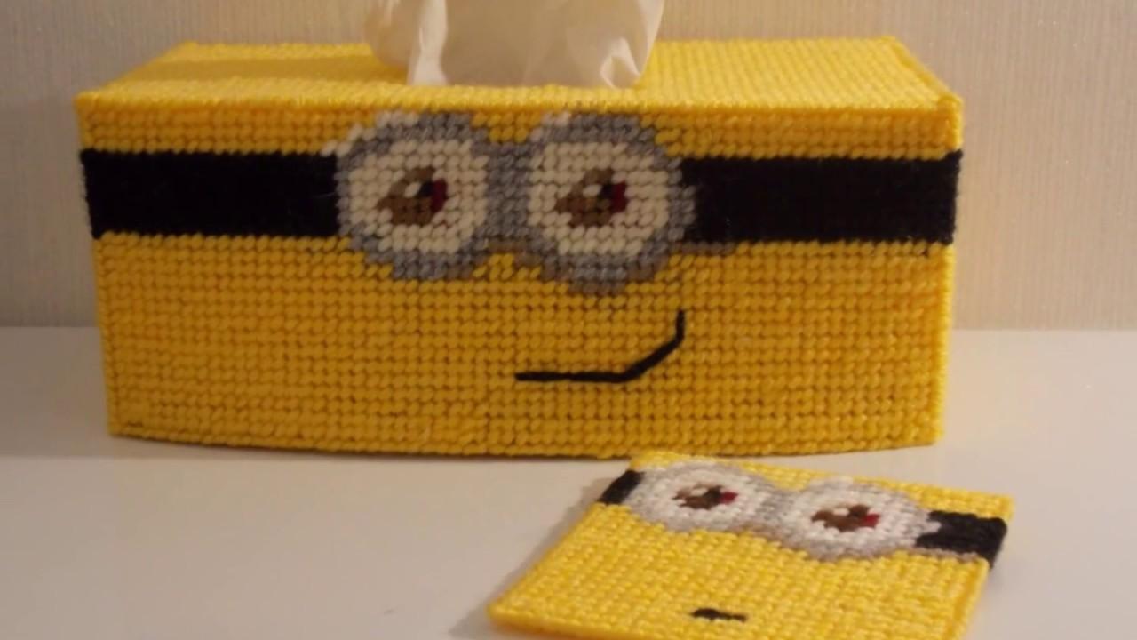 How To Make A Plastic Canvas Minion Tissue Box A Coaster