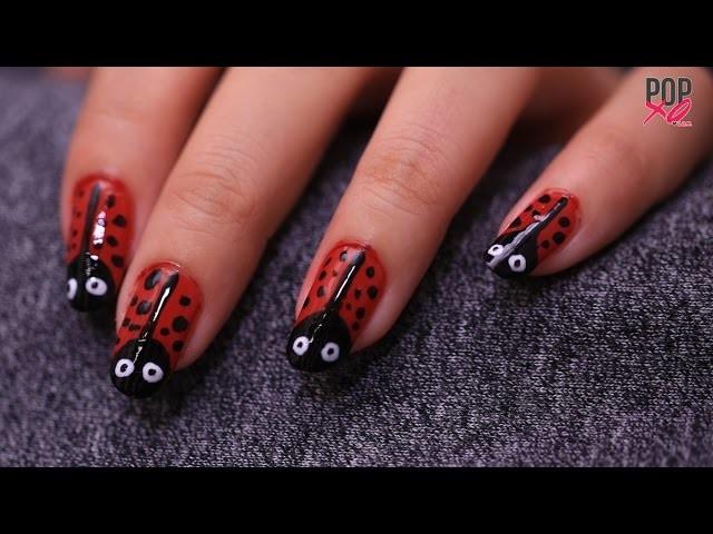 DIY Lady Bug Nail Art, Nail Art Designs
