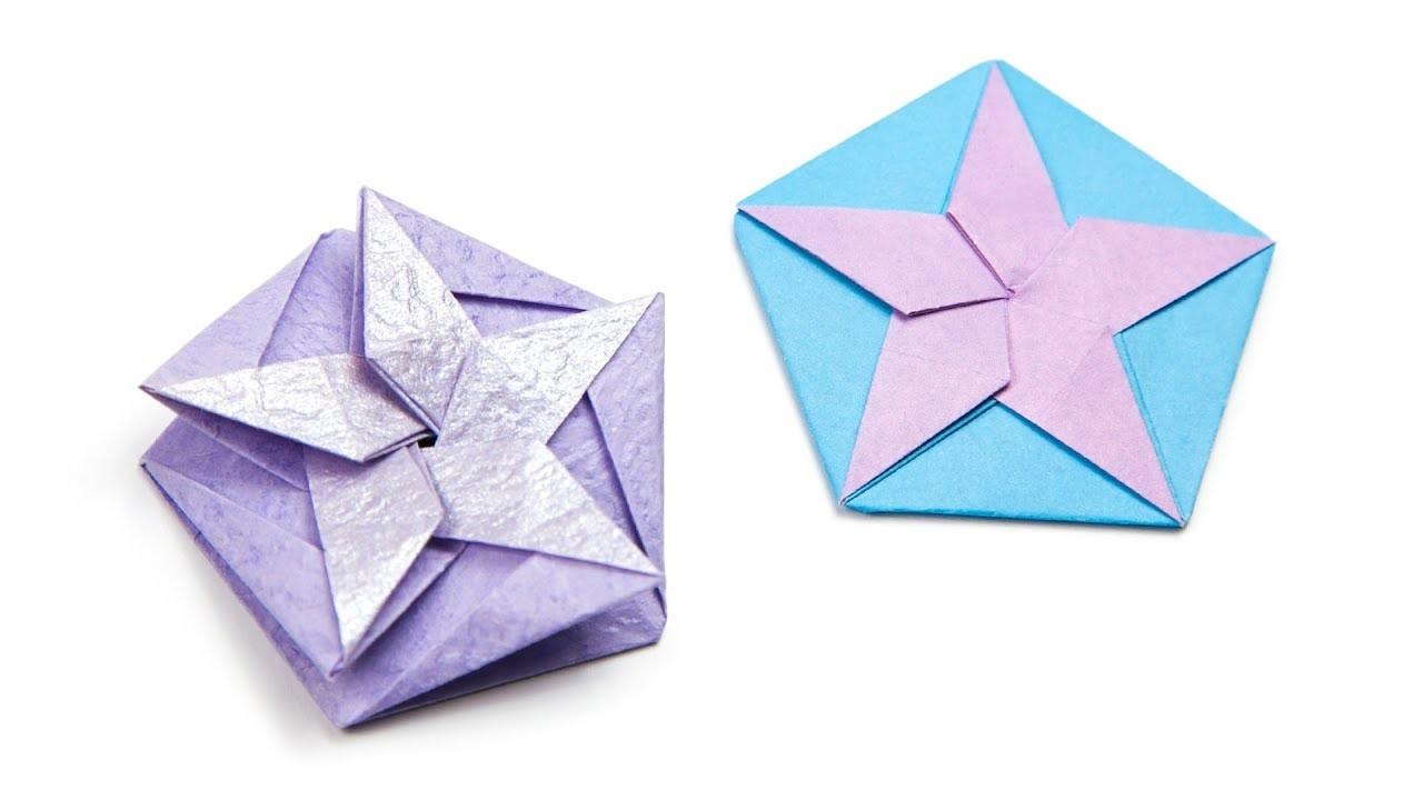 Origami Star Tato Coaster Tutorial Paper Kawaii