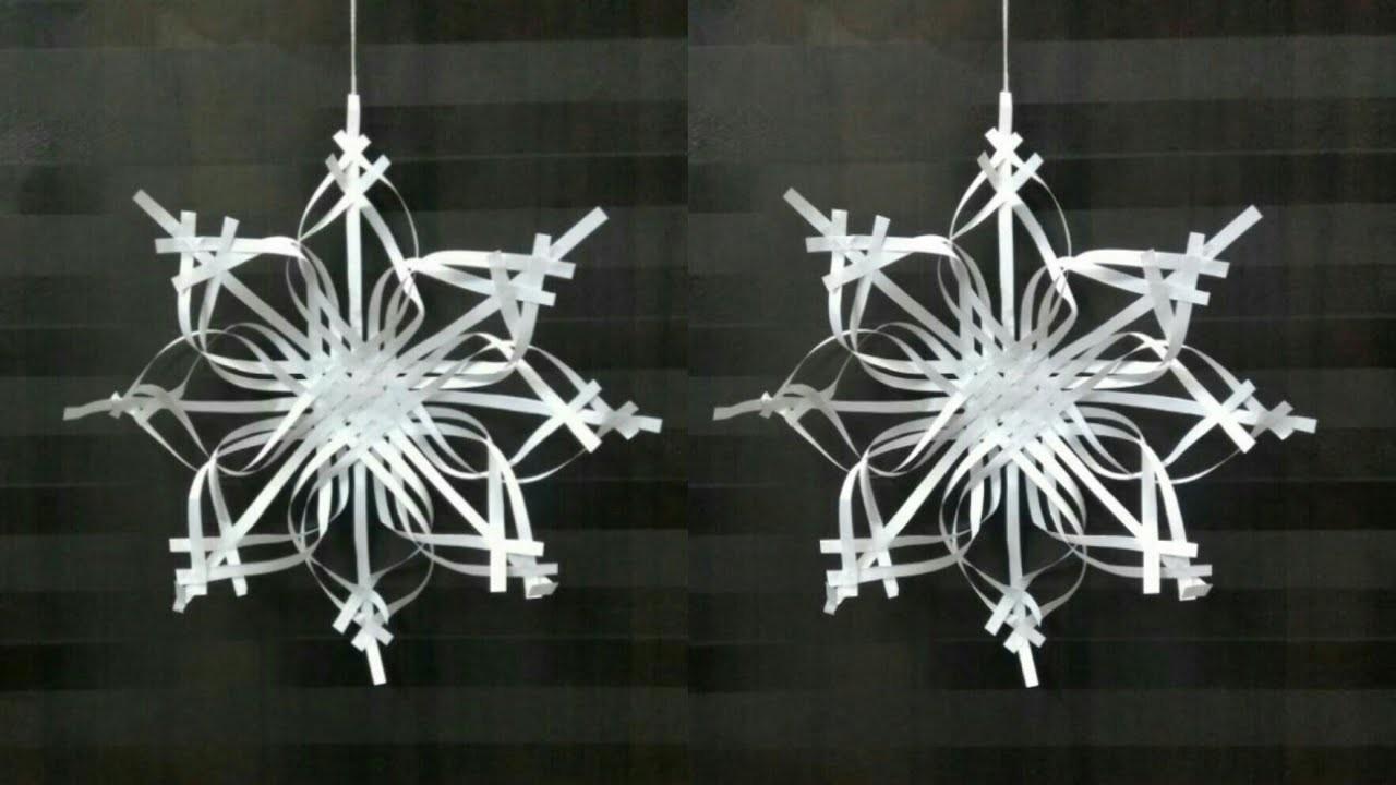 Paper Snowflake Tutorial 2 Making Christmas Snowflakes