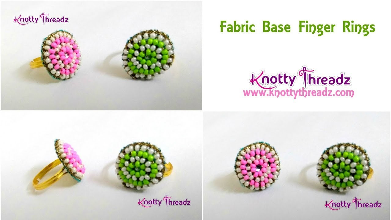 Fabric Jewelry Fabric Base Finger Rings Or Studs Diy