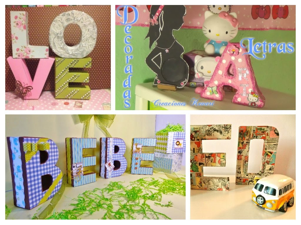 Diy Letras Decorativas Letras 3d Decorativas Diy Crafts 3d Letters Room Decor