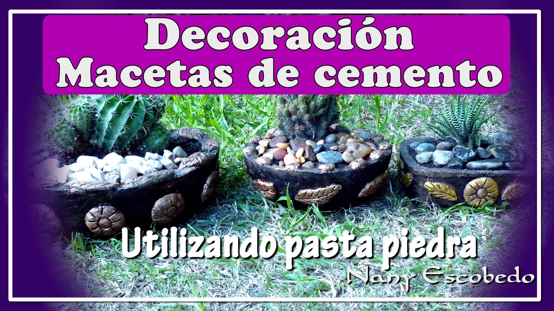 Como Decorar Macetas CÓmo Decorar Macetas De Cemento