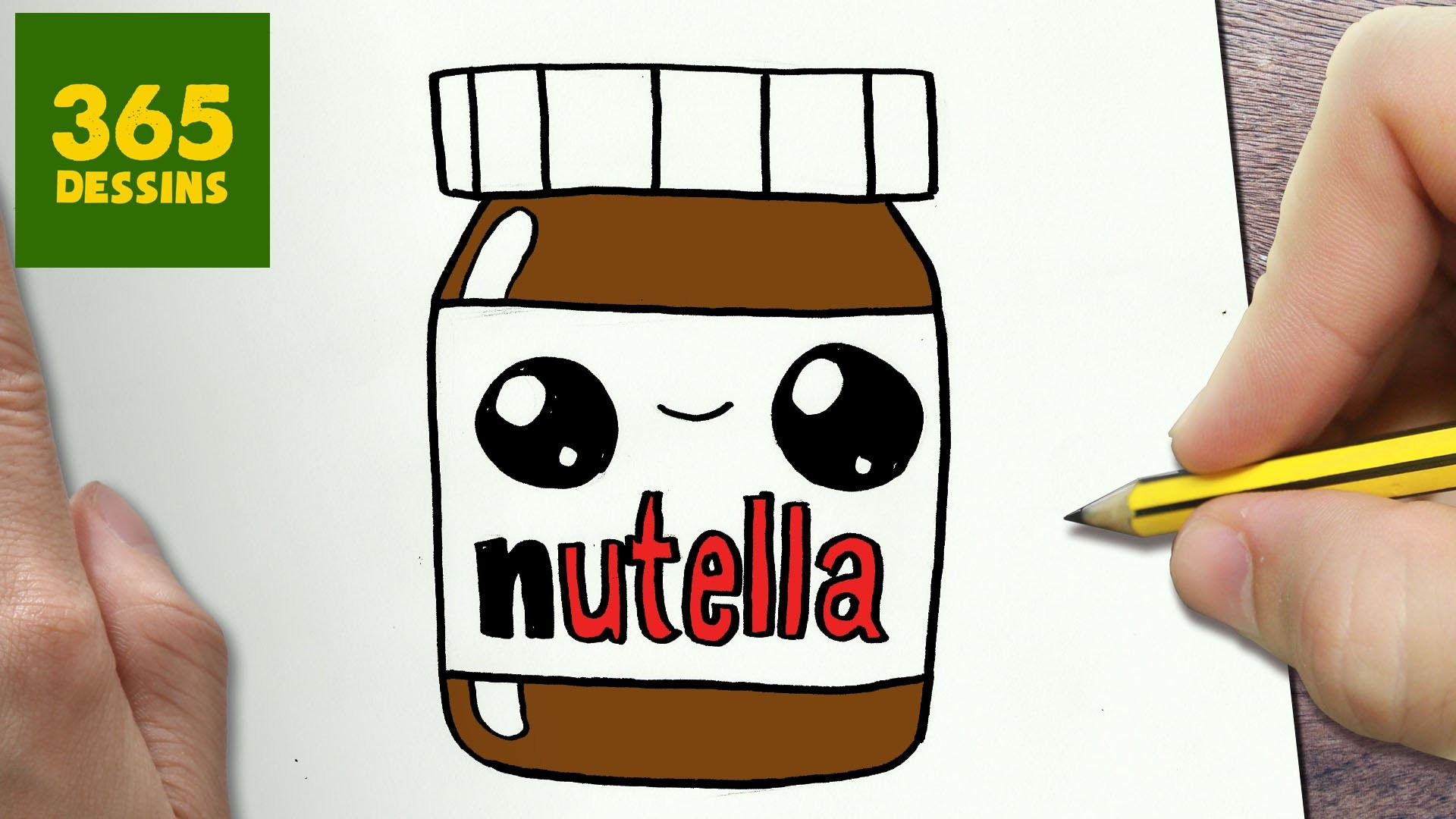 3d Dessin Facile Comment Dessiner Nutella Kawaii Étape Par Étape Dessins