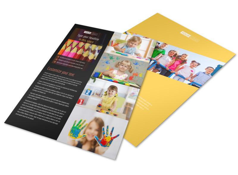 Preschool Services Flyer Template MyCreativeShop