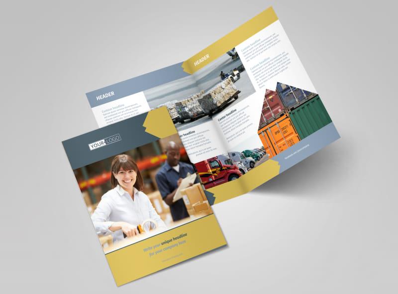 Logistics Company Brochure Template MyCreativeShop