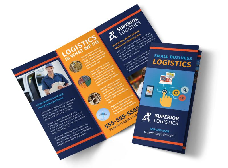 Logistics Company Brochure Template MyCreativeShop - company brochure templates