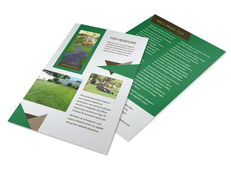 Green Lawn Care Flyer Template MyCreativeShop