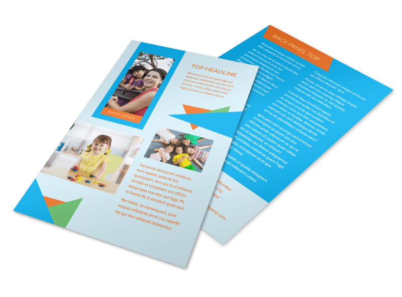 Fun Preschool Flyer Template MyCreativeShop