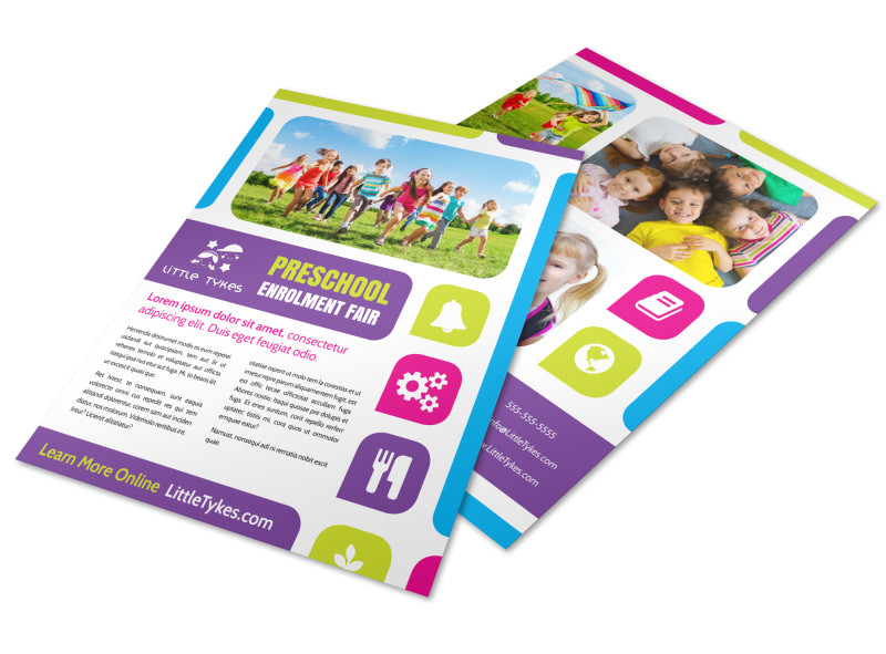 Fun Preschool Brochure Template MyCreativeShop