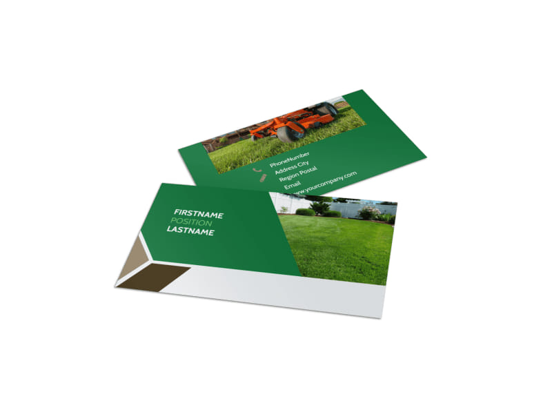 Green Lawn Care Business Card Template MyCreativeShop - lawn care business cards