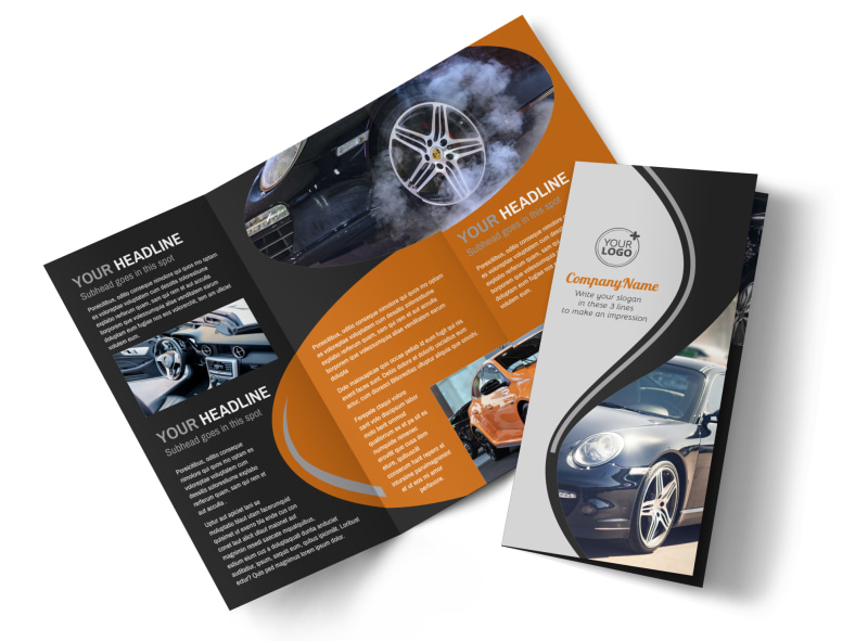 Sport Car Detailing Flyer Template MyCreativeShop