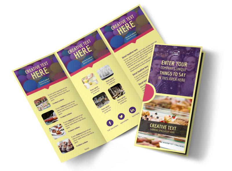 Office Party Brochure Template MyCreativeShop - party brochure template