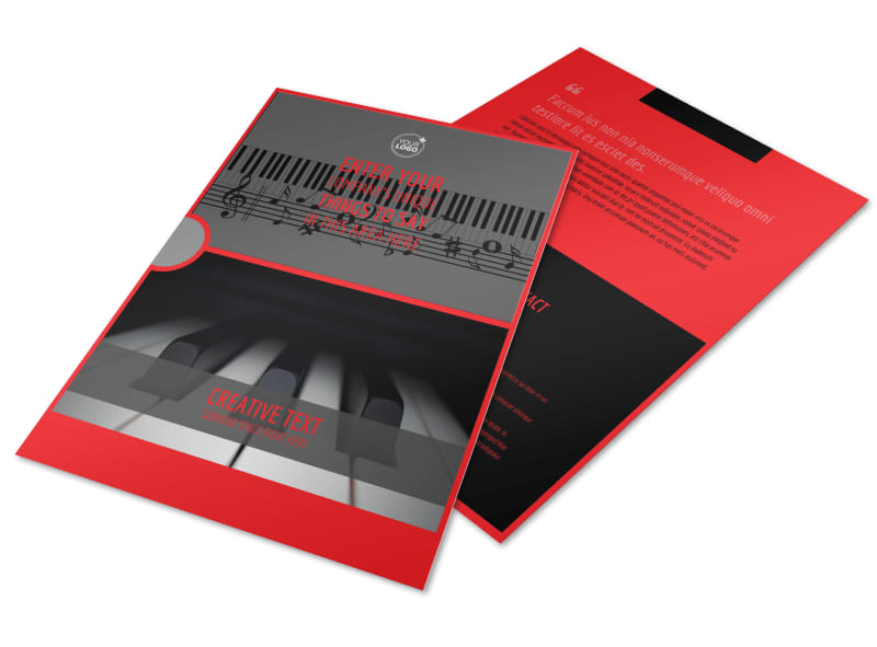 piano lessons flyer template free