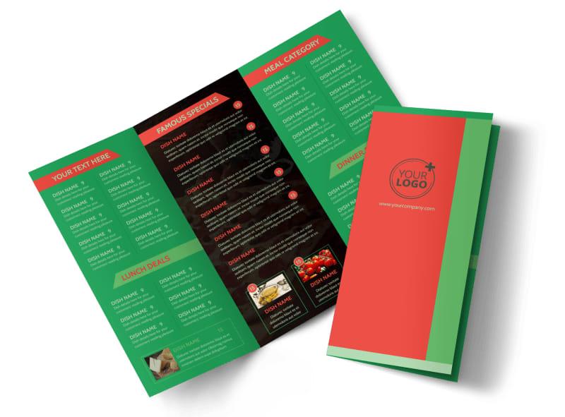 Pizza Restaurant Menu Flyer Template MyCreativeShop