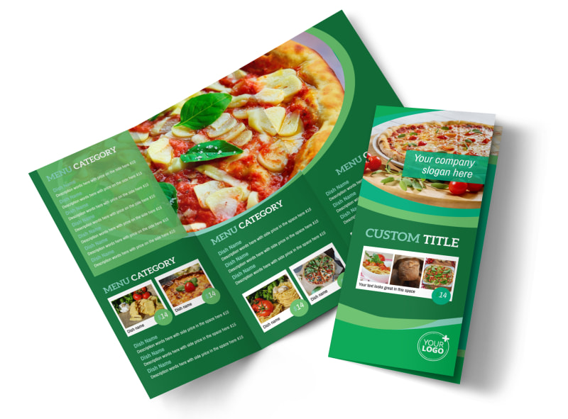 Italian Pizza Restaurant Brochure Template MyCreativeShop