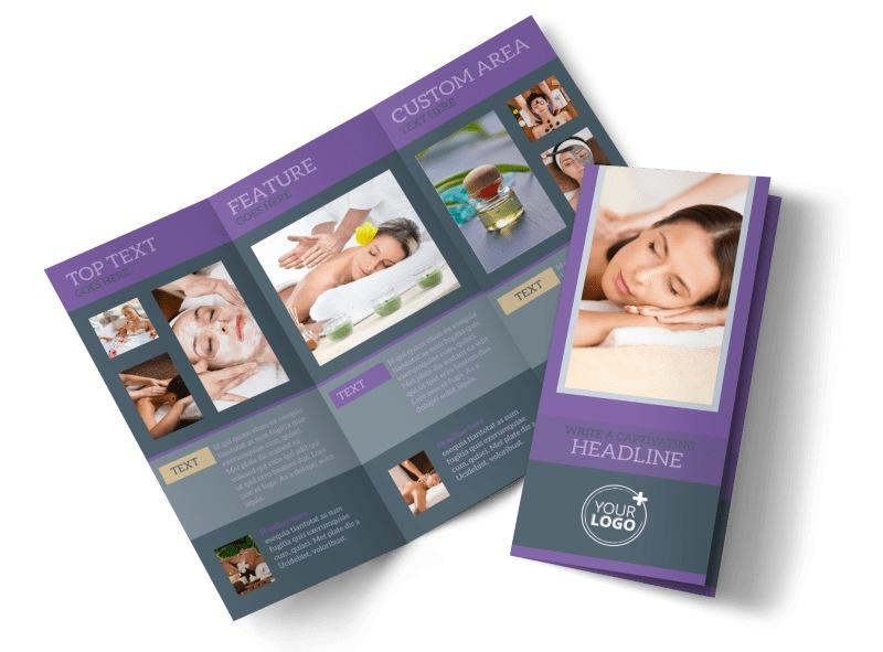 Relaxing Day Spa Brochure Template MyCreativeShop - spa brochure template