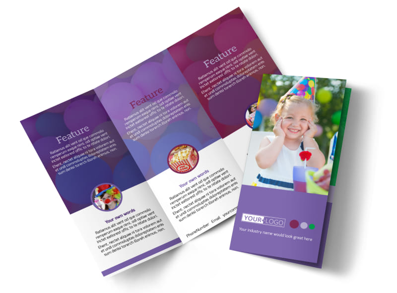 Fun Time School Party Brochure Template MyCreativeShop - party brochure template