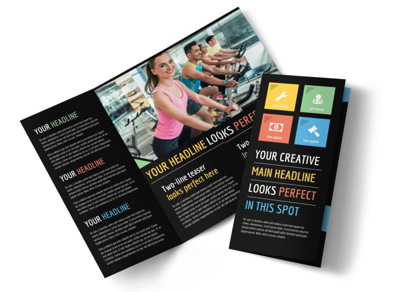 Top Fitness Center Brochure Template MyCreativeShop - Fitness Brochure