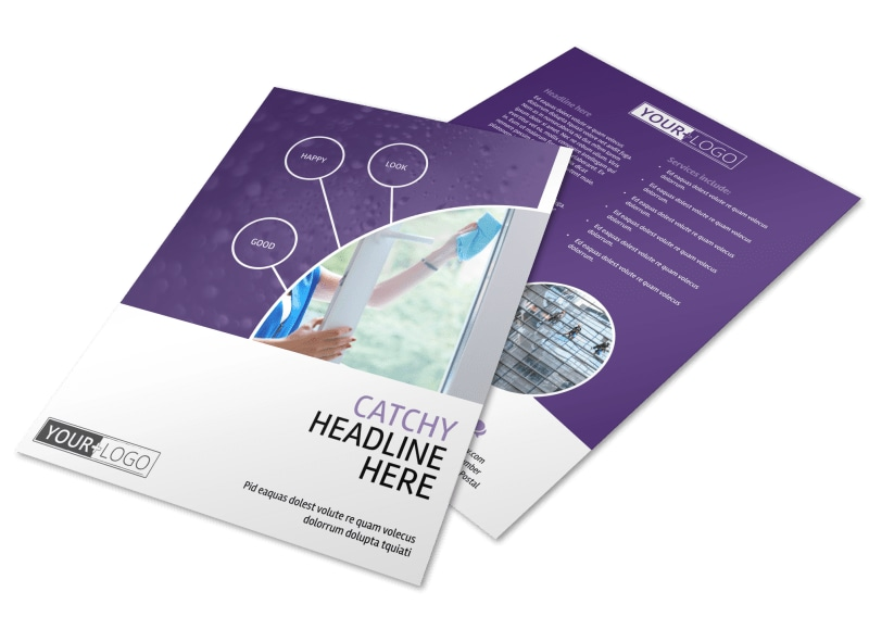 Window Cleaning Service Flyer Template MyCreativeShop - cleaning brochure template