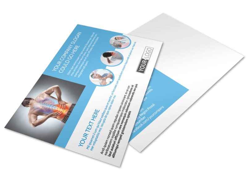 Family Chiropractic Clinic Postcard Template MyCreativeShop