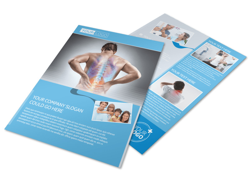 Family Chiropractic Clinic Flyer Template MyCreativeShop