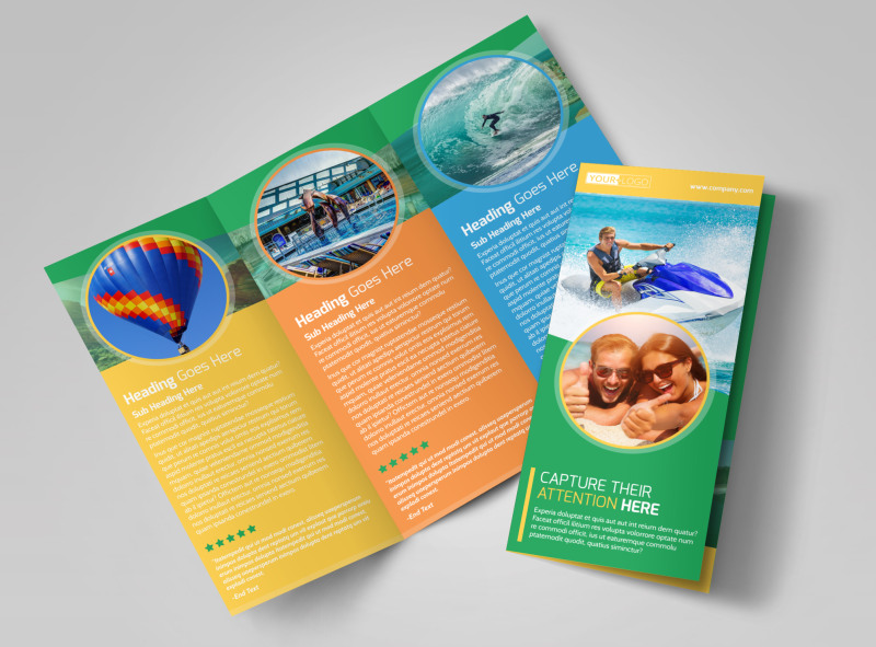 Awesome Tourism Activities Brochure Template MyCreativeShop - tourism brochure template
