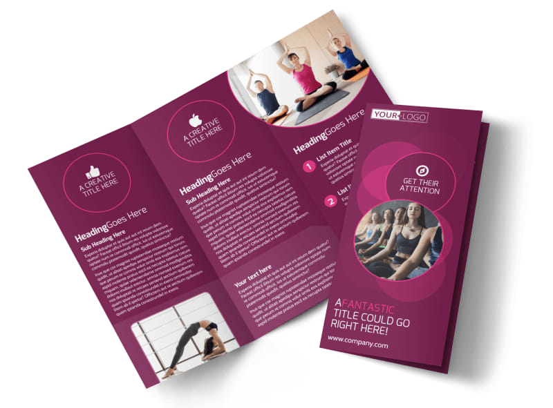Core Yoga Fitness Brochure Template MyCreativeShop - Fitness Brochure
