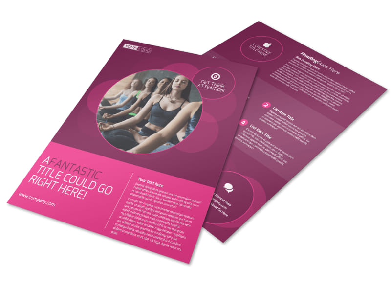 Core Yoga Fitness Flyer Template MyCreativeShop